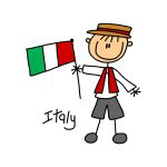 Italy Ethnic Stick Figure T-shirts and Gifts