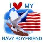 Love My Navy Boyfriend Tshirts and Gifts