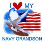Love My Navy Grandson T-shirts and Gifts