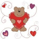 Pretty Valentine Bear Tshirts and Gifts