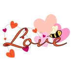 Bee-ing in Love Tshirts and Gifts