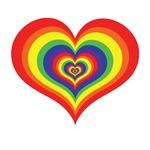 Retro Rainbow Heart