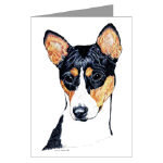 Creative Basenji Note Cards or Post Cards