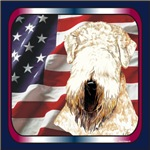 Soft Coated Wheaten Terrier USA Flag Products