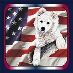 Samoyed Patriotic USA Flag Gift Items