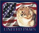 Pomeranian USA Flag Patriotic T-shirts & Apparel