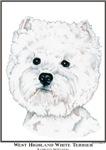 West Highland White Terrier Westie Portrait Items