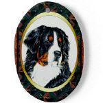 Porcelain Bernese Mountain Dog Ornaments