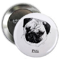 Pud Dog Buttons and Magnets