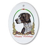 German Shorthaired Pointer Dog Holiday Ornaments