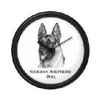 German Shepherd Dog Clocks and Mousepads