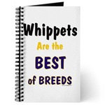 Beautiful White Whippet Dog Journals