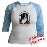 Bernese Mountain Dog Holiday Just for Juniors Wear