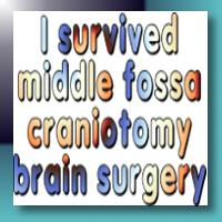 I survived middle fossa craniotomy brain surgery merchandise at