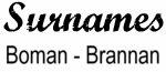 Vintage Surname - Boman - Brannan