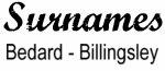 Vintage Surname - Bedard - Billingsley