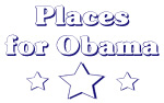 Places for Obama (blue outline)