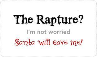 The Rapture & Santa T-shirts