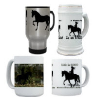 Mountain Horse Mugs, Steins