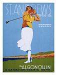 St. Andrews Lady Golfer