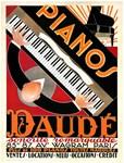 Pianos Daude, Vintage Poster