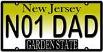 #1 Dad New Jersey Vanity License Plate Design