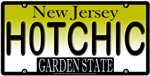 HOT CHICK New Jersey Vanity License Plate Design