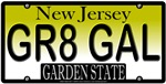 Great Gal New Jersey Vanity License Plate Deisgn