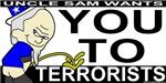 Uncle Sam Piss On Terrorists T-shirts