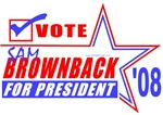 Vote Sam Brownback President 2008 T-shirts & Gifts