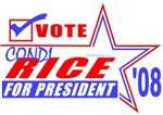Vote Condi Rice President 08 T-shirts & Gifts