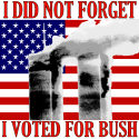 Did Not Forget I Voted For Bush T-shirts and Gifts