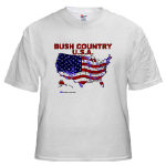 Bush Country USA (2004 Country Map) T-shirts