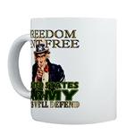 U.S. Army Freedom Isn't Free Mugs Hats & Gifts