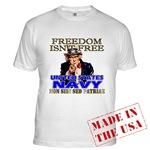 U.S. Navy Freedom Isn't Free T-shirts & Apparel