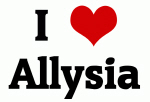 I Love Allysia