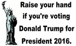 Donald Trump raise your hand