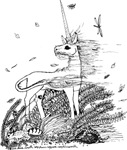Unicorn in the strong wind