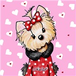 Valentine Yorkie Girl