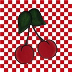 Cherries on Checkerboard 1