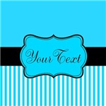 Personalizable Teal and Black