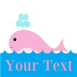 Personalizable Pink Whale