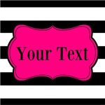 Personalizable Hot Pink Black S