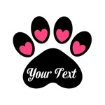 Personalizable Pink Paws