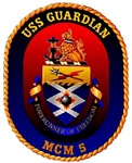 USS Guardian MCM 5 US Navy Ship