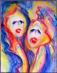 Faces, colorful art