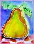 Pear, bright art,