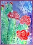 Cactus! Colorful southwest desert art!