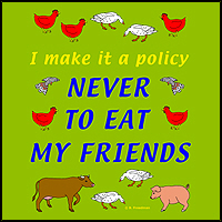 I NEVER EAT MY FRIENDS