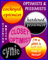 OPTIMISTS & PESSIMISTS T-SHIRTS & GIFTS
